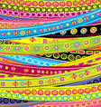 Childish background with stripes and doodle vector image
