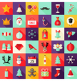 Big Christmas Squared Flat Icons Set 1 vector image