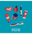 Dental hygiene medical icons in 3D vector image vector image