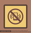 forbidden to use phone forbidding symbol vector image