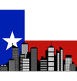 City and flag of Texas vector image vector image
