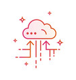 cloud iot internet of things icon gradient vector image