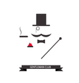 Gentleman abstract logo vector image