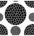 pattern of black mosaic circles vector image