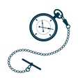 Pocket watch with chain vector image