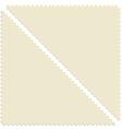 Triangular post stamp vector image