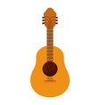 white background with acoustic guitar vector image