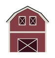 silhouette colorful with barn of two floors vector image