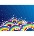 color background with rainbows vector image
