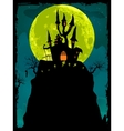 Halloween poster background EPS 8 vector image vector image