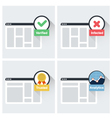 Website trust symbols - trusted verified infected vector image vector image