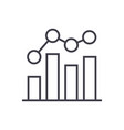business chart bar graph line icon sig vector image