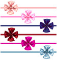 color bow set vector image