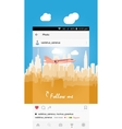 Mobile application and plane flying over the city vector image