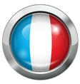 France flag metal button vector image