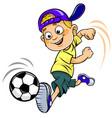 soccer cartoon kid vector image