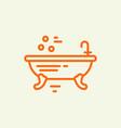 bathtub design vector image