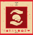 hands holding brain - protection symbol vector image