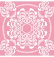 seamless floral pink vector image vector image