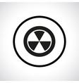 Radiation hazard symbol in a circle vector image
