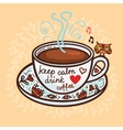keep calm drink coffee vector image