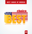 best choice of america vector image vector image