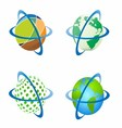 Around the World Around Globe vector image