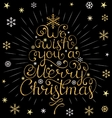 christmas inscription with colorful rays vector image