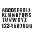 english alphabet crack vector image