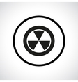 Radiation hazard symbol in a circle vector image