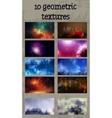 set of ten geometric textures vector image