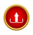Upload icon simple style vector image