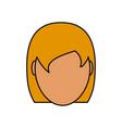 woman faceless avatar vector image