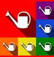 watering sign set of icons with flat vector image