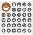 Coffee cup and Tea cup icon set vector image vector image