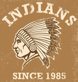 vintage indian mascot vector image vector image