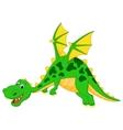 Happy dragon cartoon flying vector image