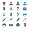 Healthcare flat with reflection icons vector image vector image