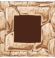 Square frame on stone seamless pattern vector image