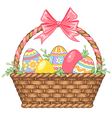 Basket easter isolated vector image
