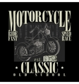 Motorcycle Typography Graphics vector image vector image