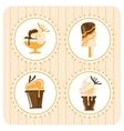 Ice Cream desighn elements vector image
