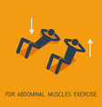 abdominal muscles exercises man symbol vector image