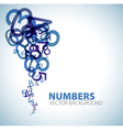 Abstract numbers background vector image