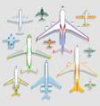 airplanes icons top view vector image