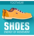 Flat styling shoes background concept desig vector image