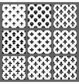 Fleur de lis seamless patterns set vector image