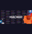 hacked the internet computer security network vector image