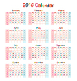 kids hand made calendar on 2016 year vector image