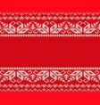 knit christmas design geometric seamless pattern vector image